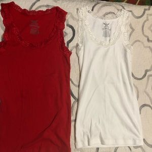 2 tank tops with lace